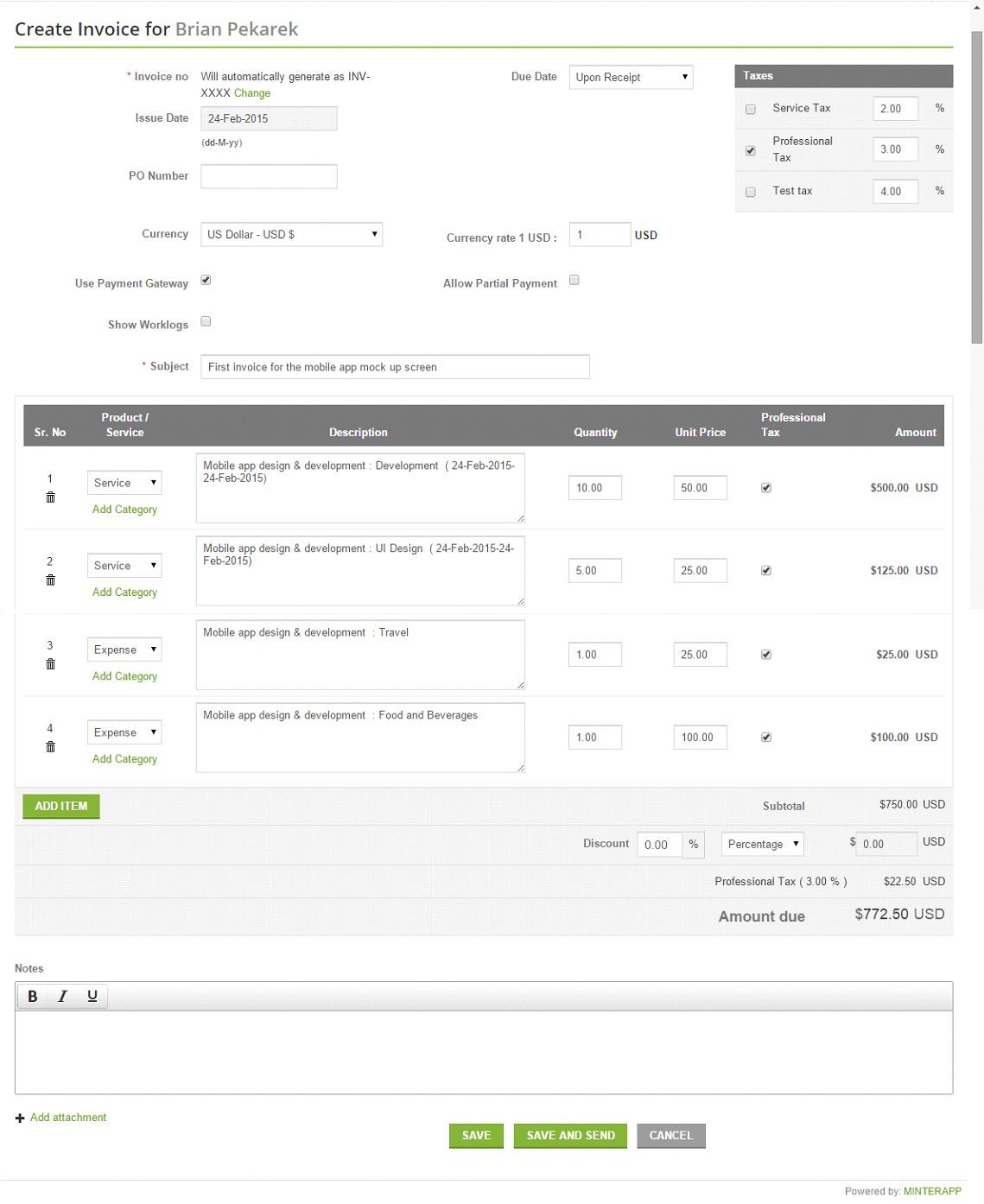 Online Invoice Management  Simple Invoice Generator