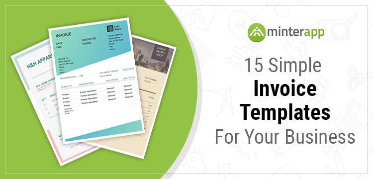 15 simple invoice templates for your business